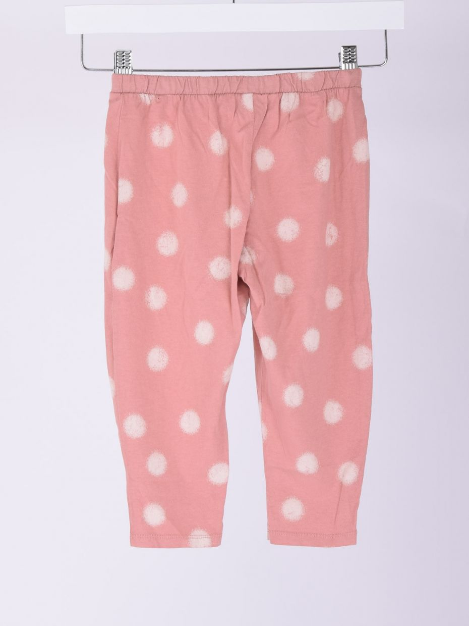 Pantaloni con coulisse stampa rosa