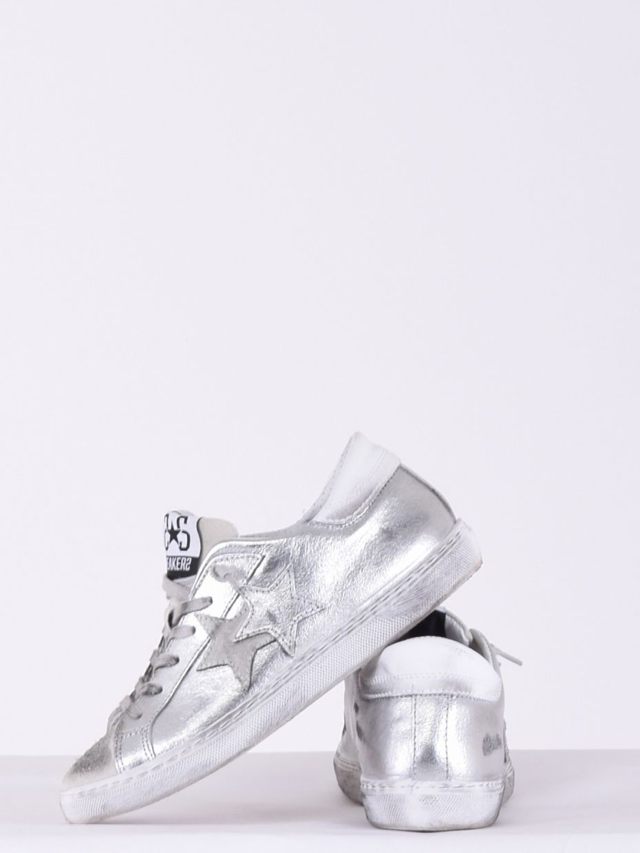 Sneakers low argento bianco