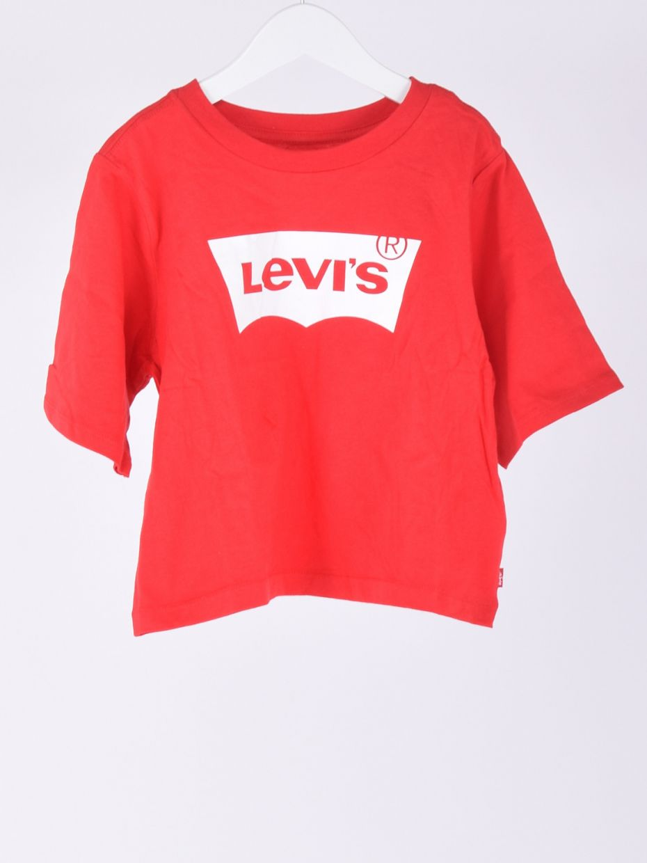 T-shirt cropped tee super red