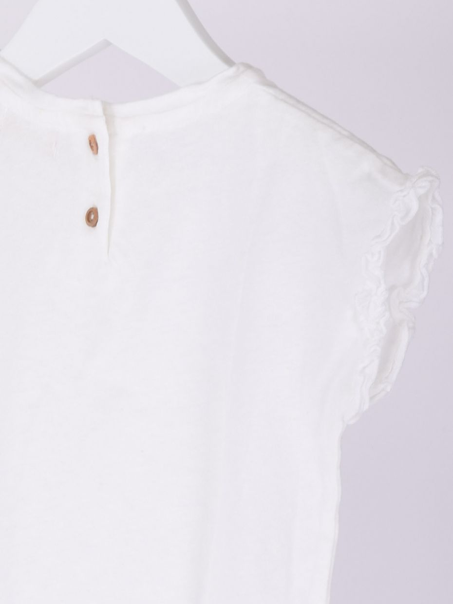 T-shirt manica voile bianco