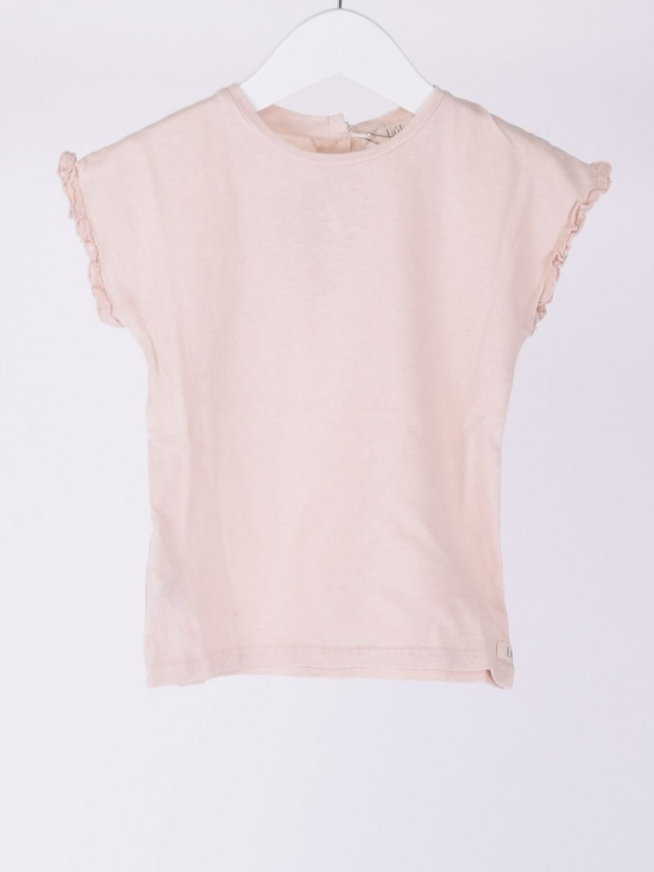 T-shirt manica voile rosa