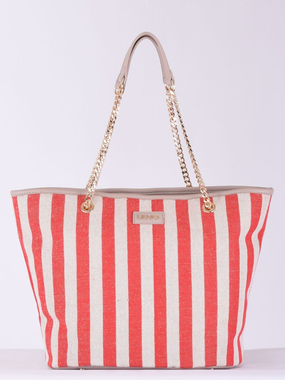 Xl tote stripes red