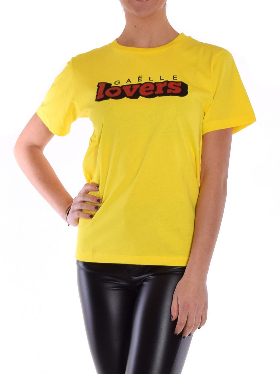 T-shirt jersey + stampa giallo