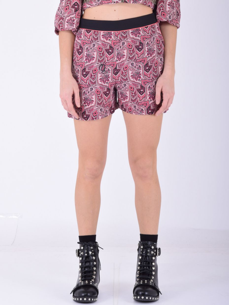 Short stampa cashmere rosa