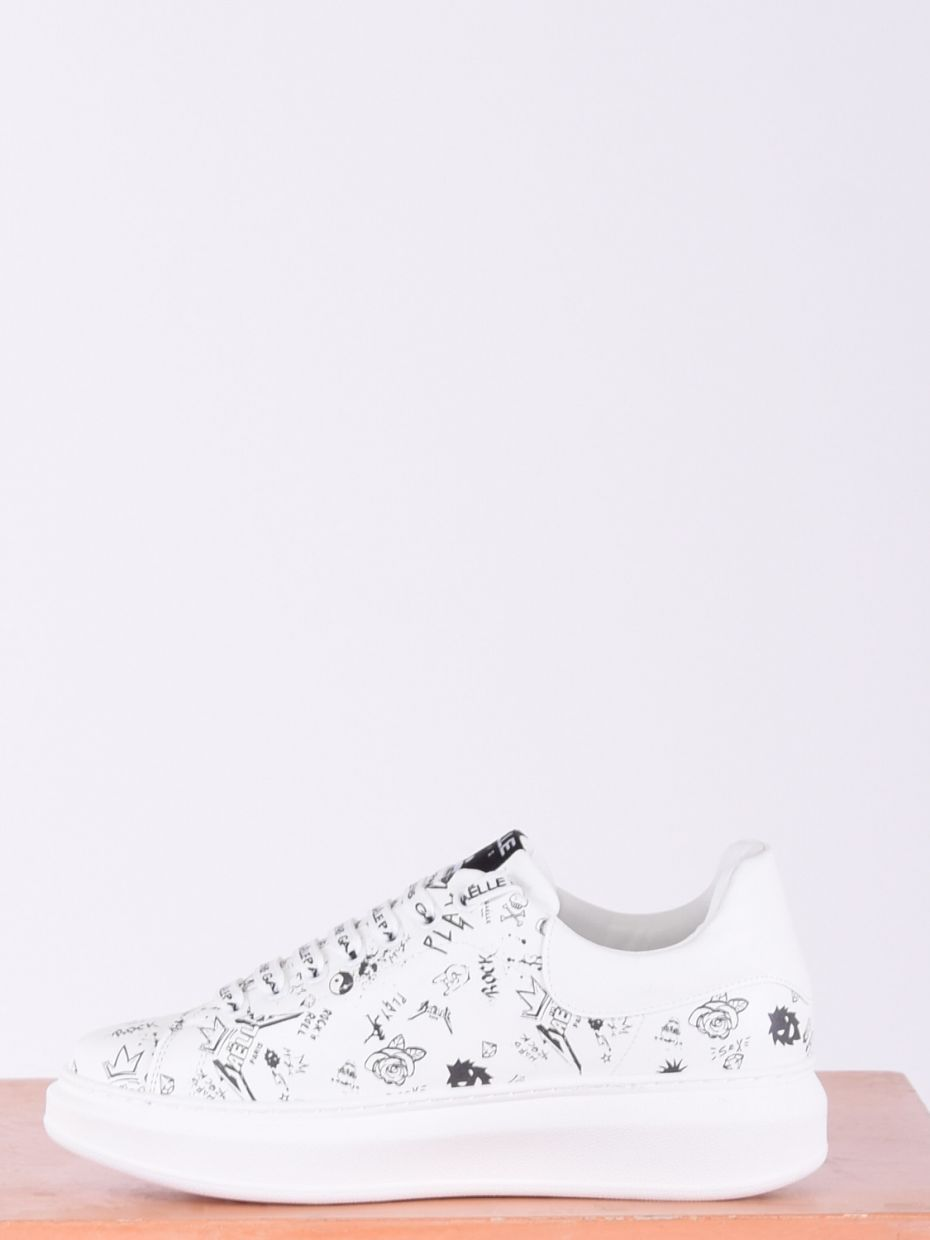 Sneakers con stampe bianco