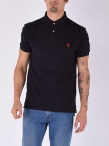 Polo piquet manica corta 006 black