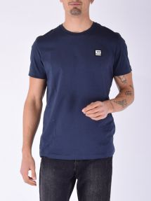 T-shirt logo piccolo 81e navy