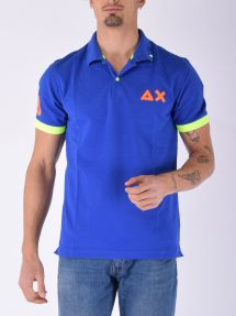 Polo logo fluo royal